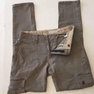 Rag & Bone Bowery Cargo Slouch Skinny Pants Sz 27